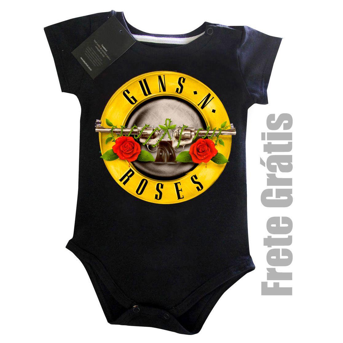 Body Bebê GUNS N ROSES - Black  - Baby Monster S/A