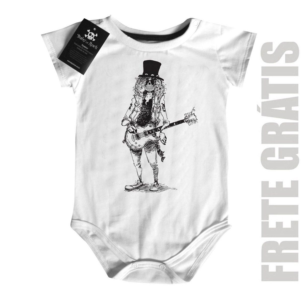 Body Bebê GUNS N ROSES (SLASH) - White  - Baby Monster S/A