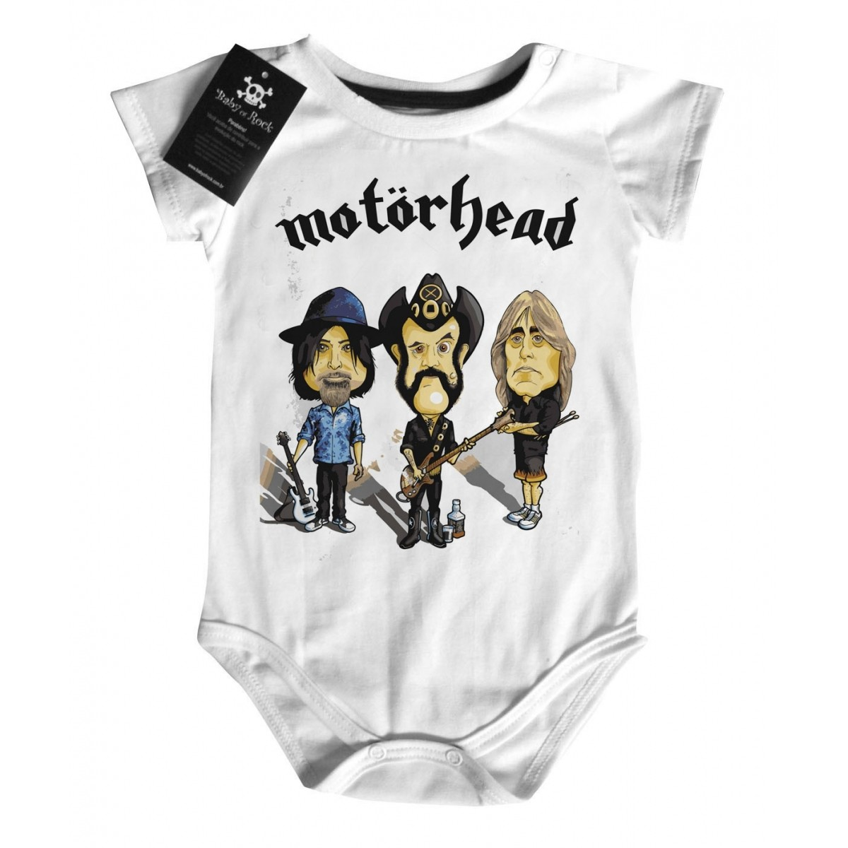 Body Bebe Motorhead - Caricature - White - Baby Monster S/A