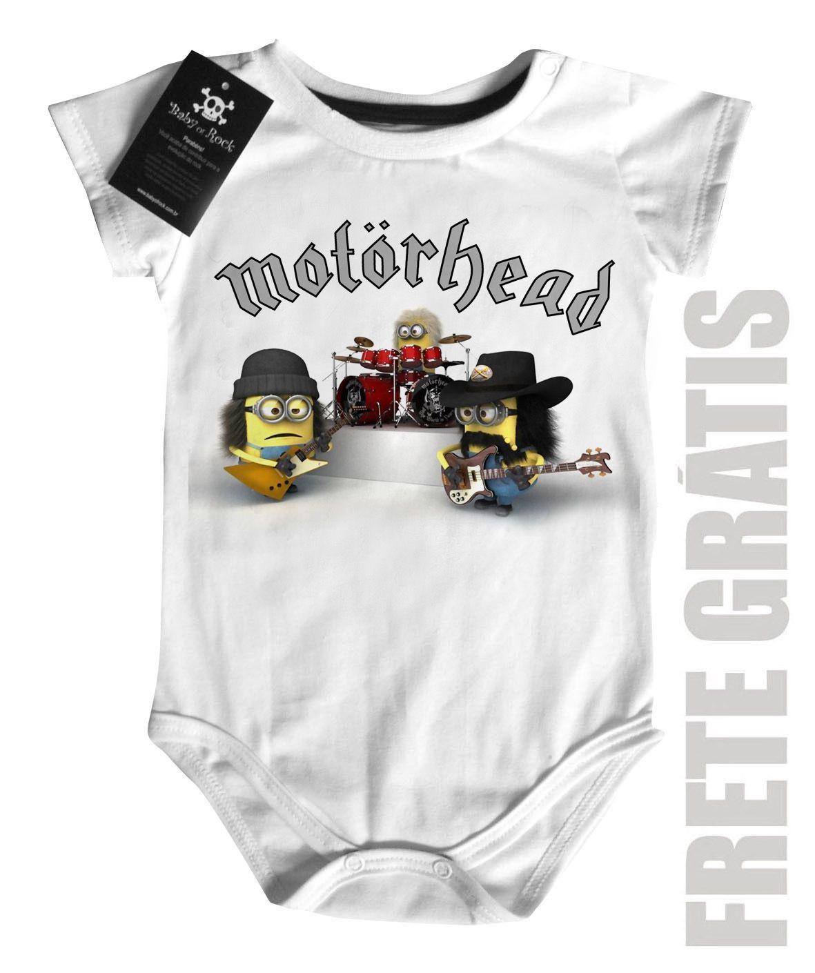 Body Bebê Motorhead - Minions - White  - Baby Monster S/A