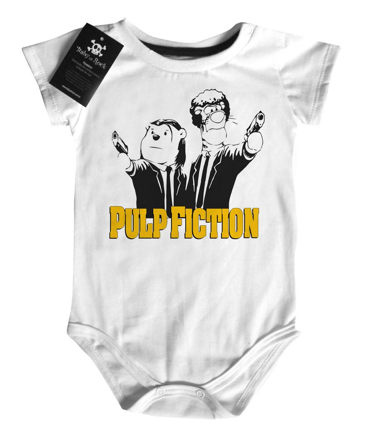 Body Bebê Pulp Fiction - Ursinho pooh   White   - Baby Monster S/A