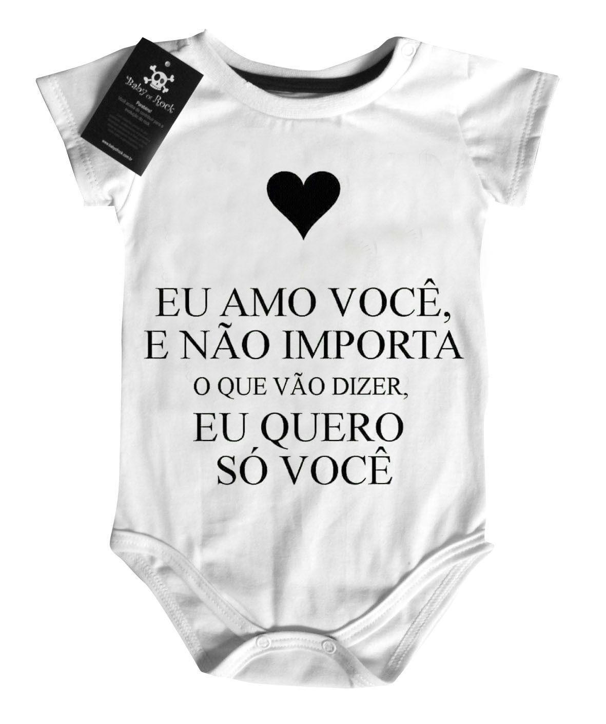 Body Bebe - Quero só você Jorge e Mateus- white  - Baby Monster S/A