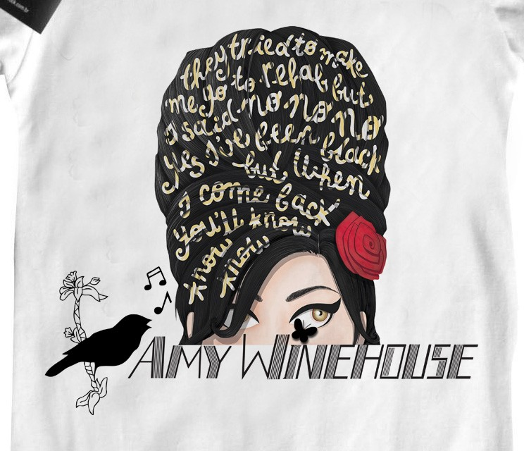 Body Bebê Rock  Amy Whinehouse D  - White  - Baby Monster S/A