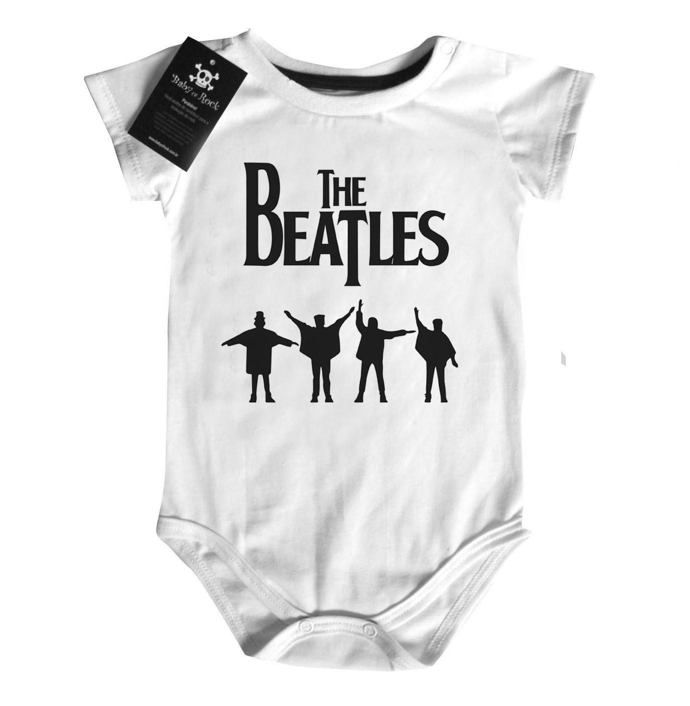 Body Bebe Rock Beatles  Help Black  - Baby Monster S/A