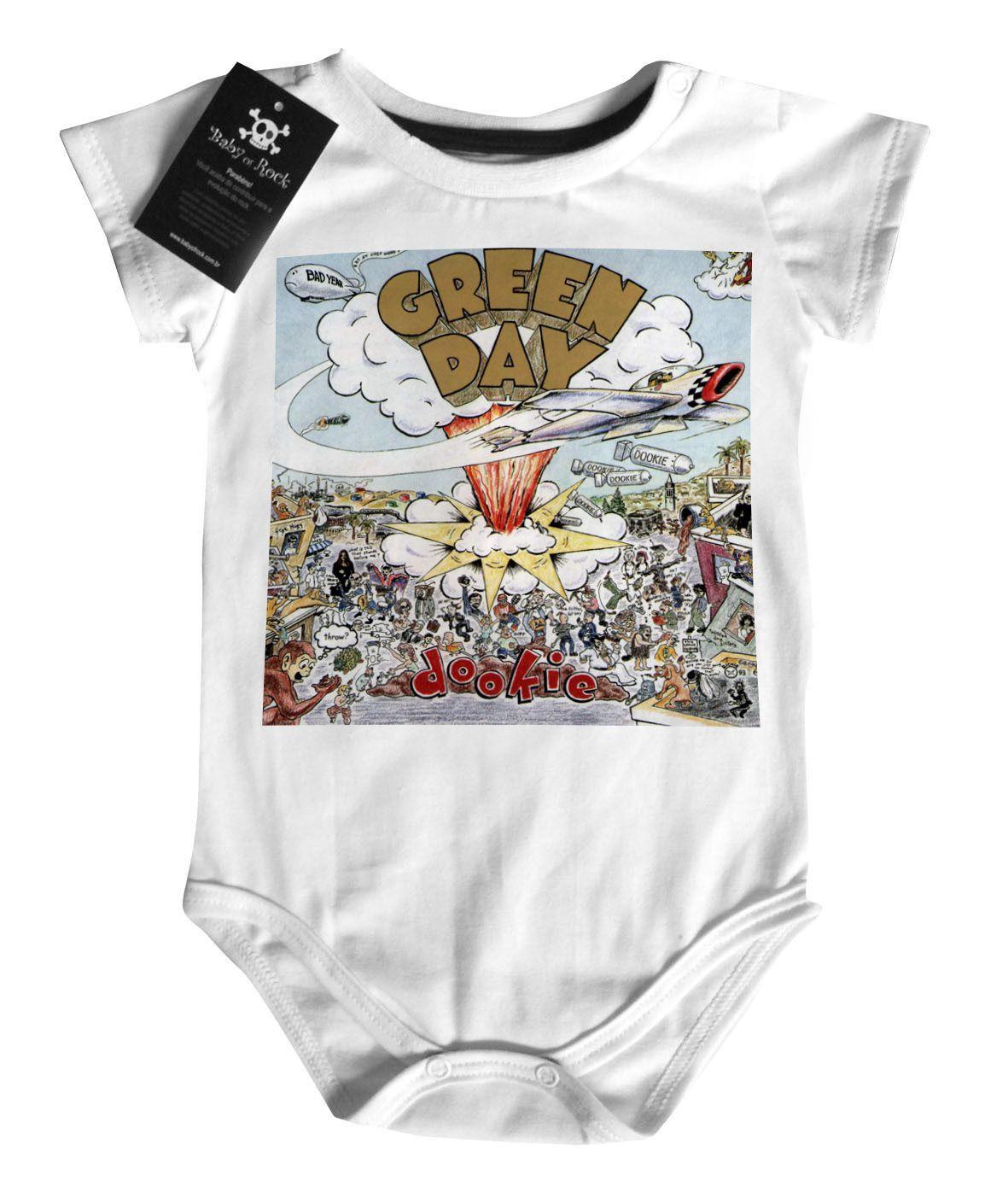 Body Bebe  Rock  Green Day - White  - Baby Monster S/A