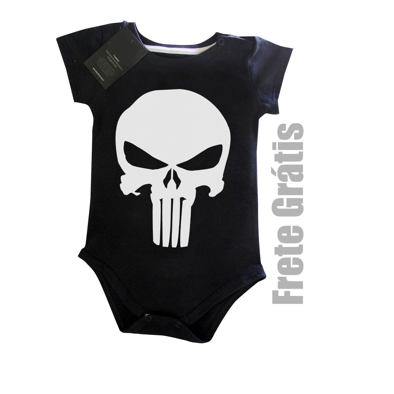 Body Bebe Rock Justiceiro  - Black  - Baby Monster S/A