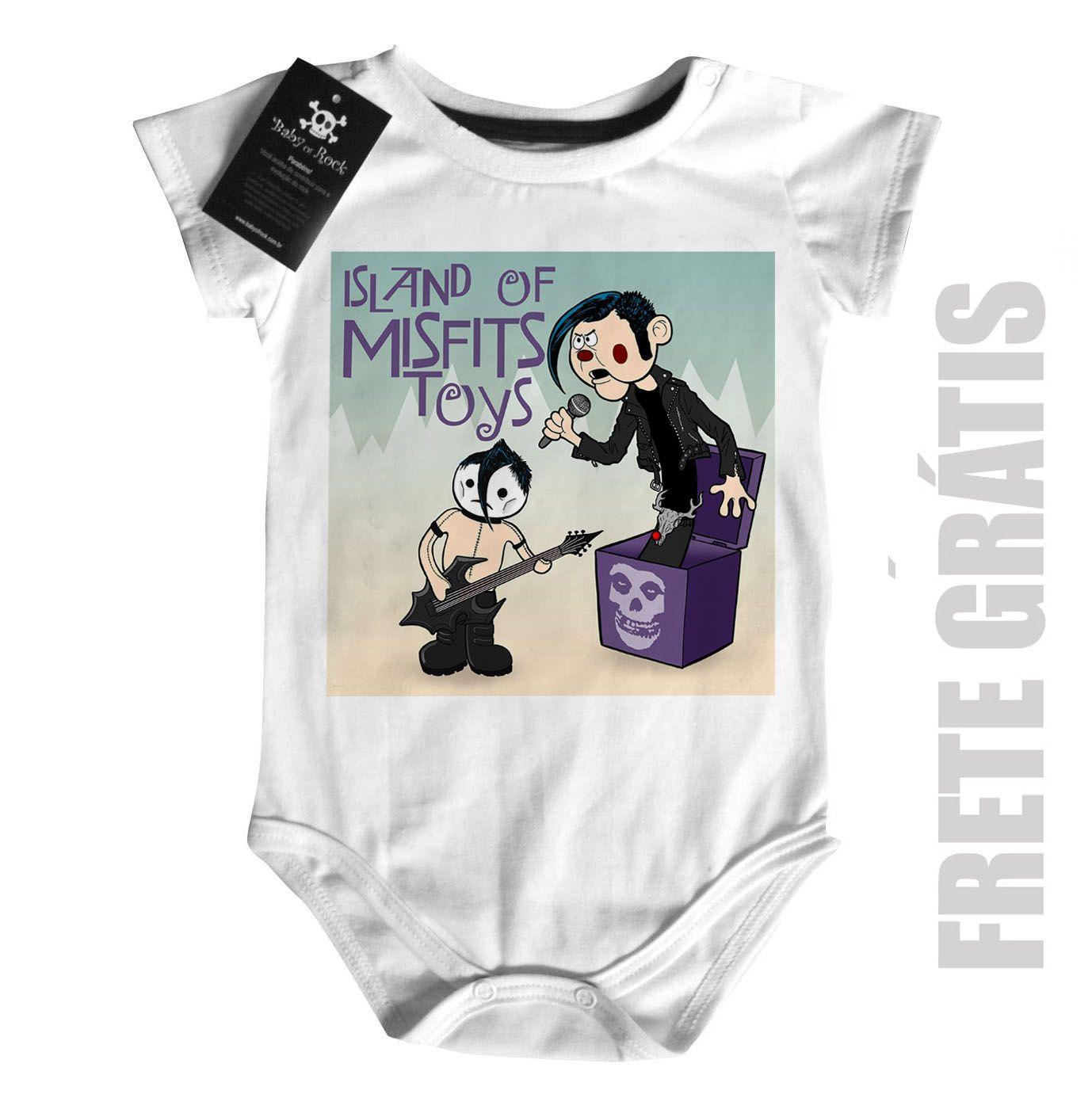 Body Bebê Rock Misfits Toy - White -   - Baby Monster - Body Bebe