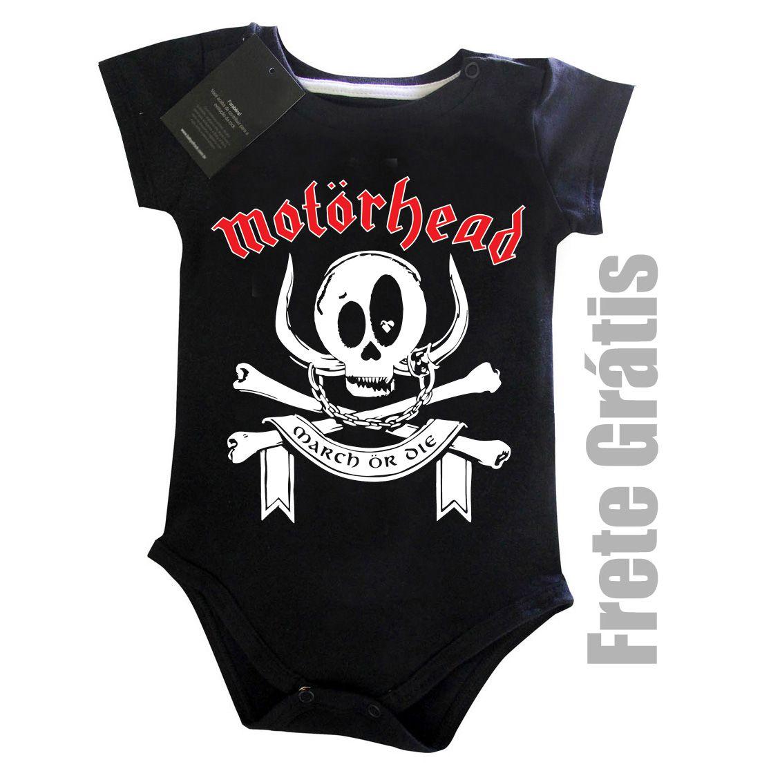 Body Bebe Rock Motorhead Black Baby Monster  - Baby Monster S/A