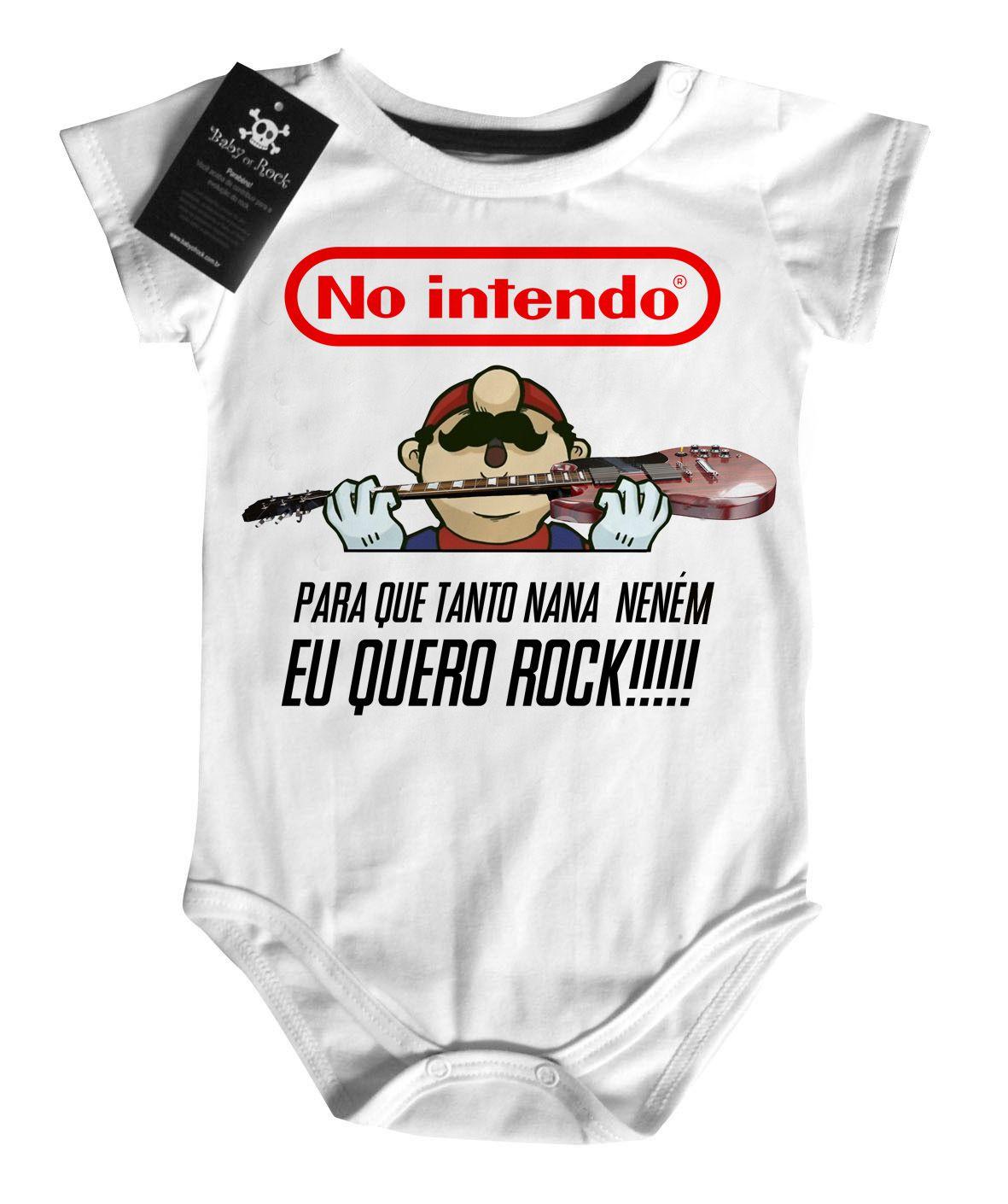 Body Bebe Rock No Intendo -  Mario - White  - Baby Monster S/A