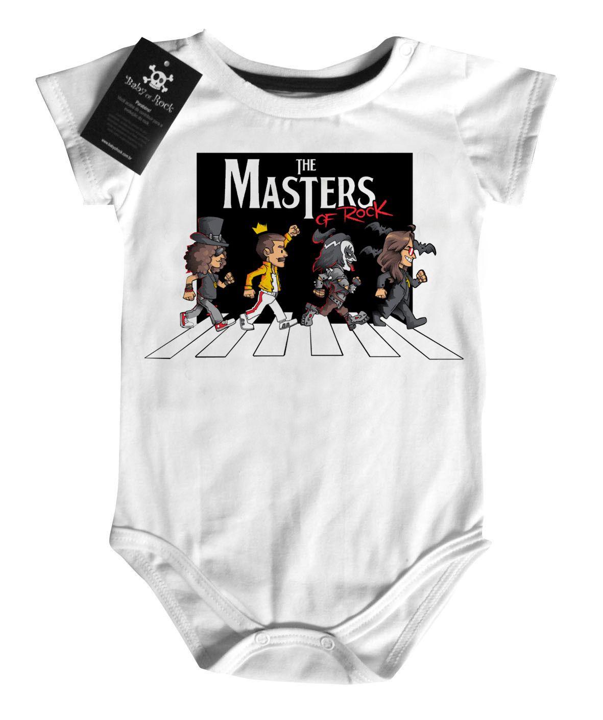 Body Bebe Rock ou Camiseta de  Rock The Masters of Rock   - Baby Monster S/A