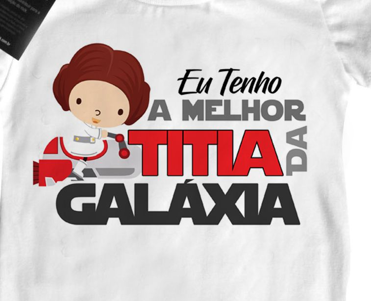 Body Bebê Rock ou Camiseta Melhor tia da Galaxia - white  - Baby Monster - Body Bebe