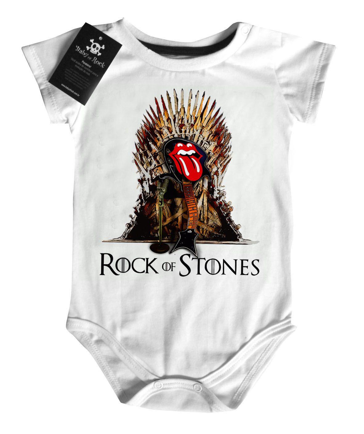 Body Bebe Rock  Rock Stones   - White   - Baby Monster S/A