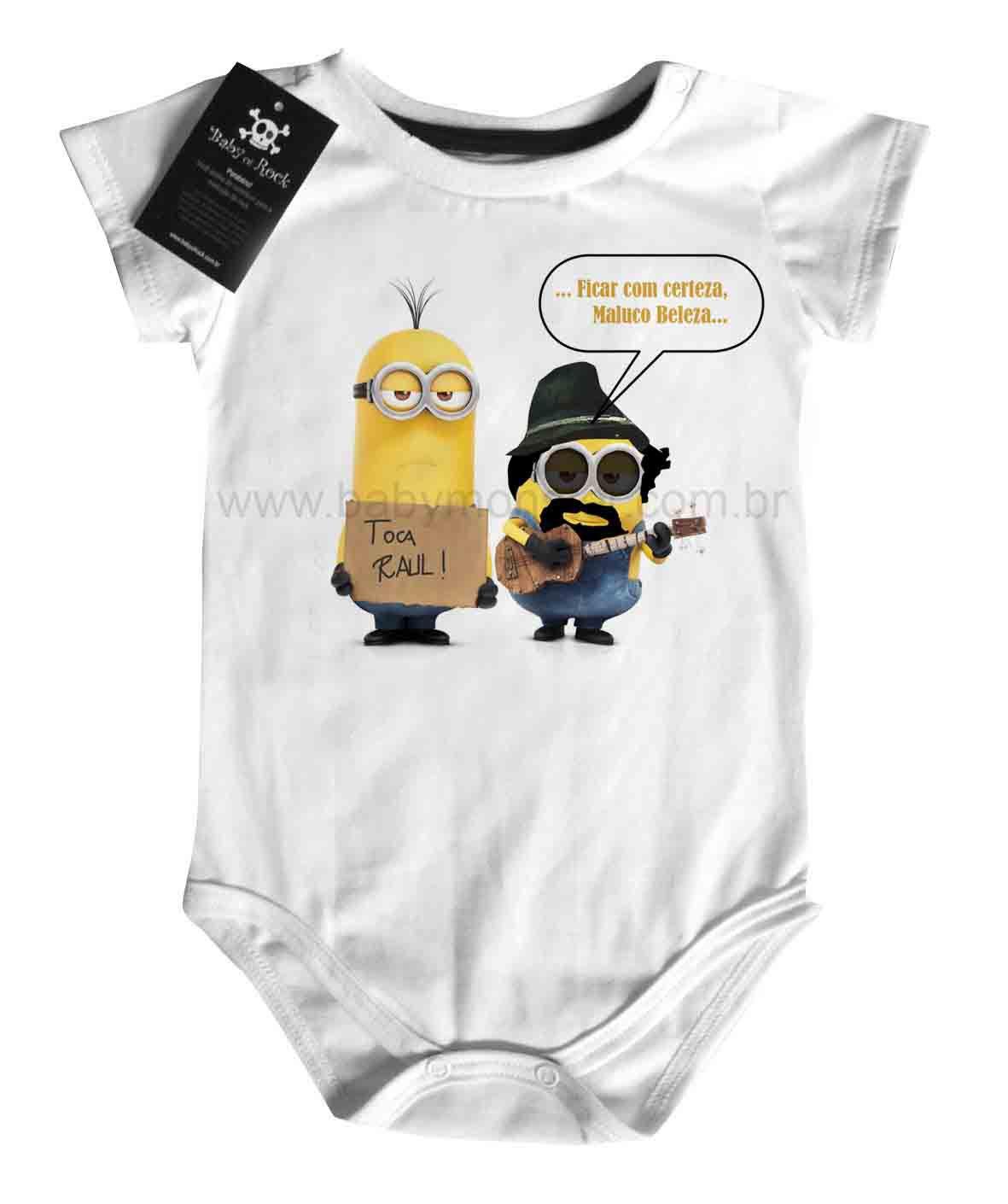 Body Bebê Rock Toca Raul Minions  - Baby Monster S/A