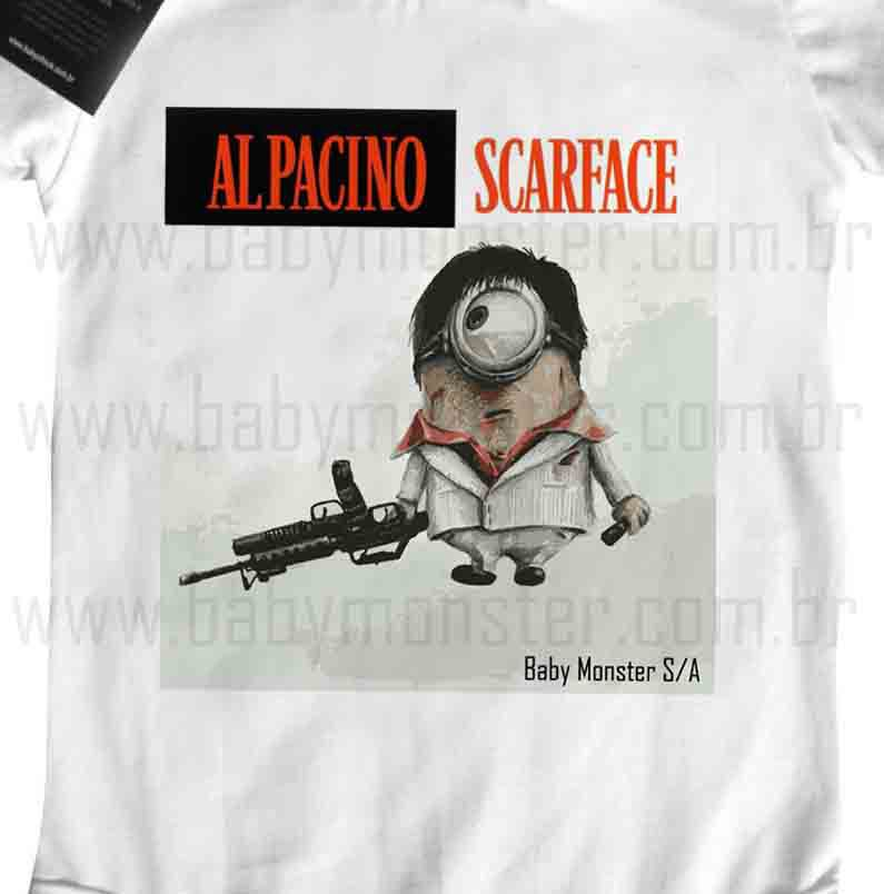Body Bebê - Scarface Minions - White - Baby Monster S/A