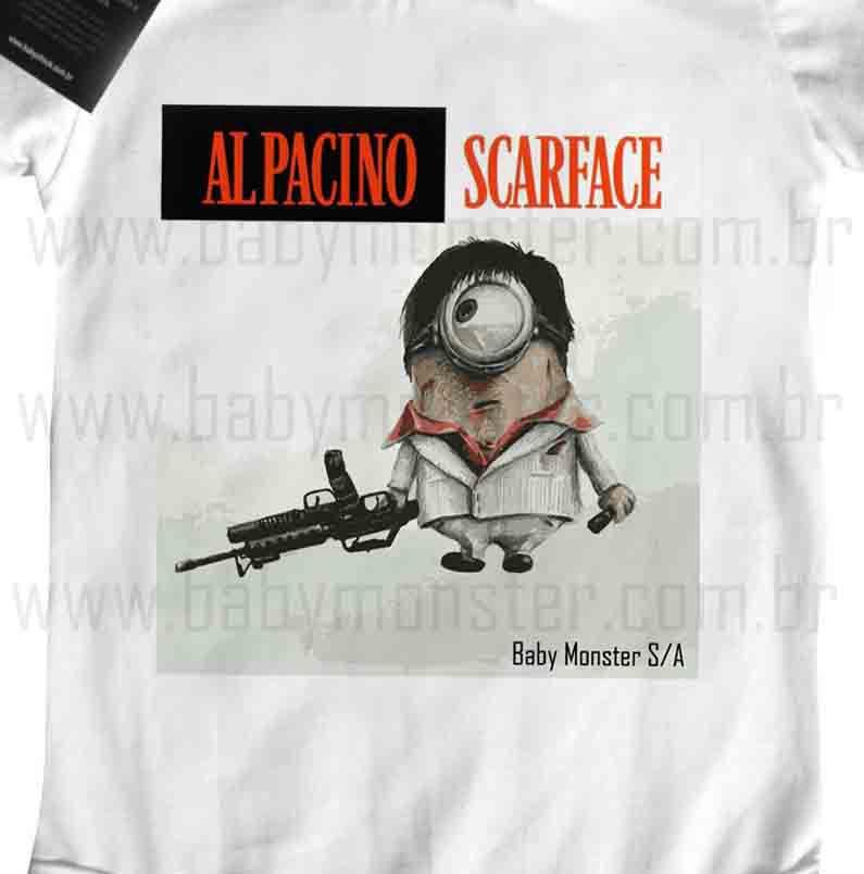Body Bebê - Scarface Minions - White  - Baby Monster - Body Bebe
