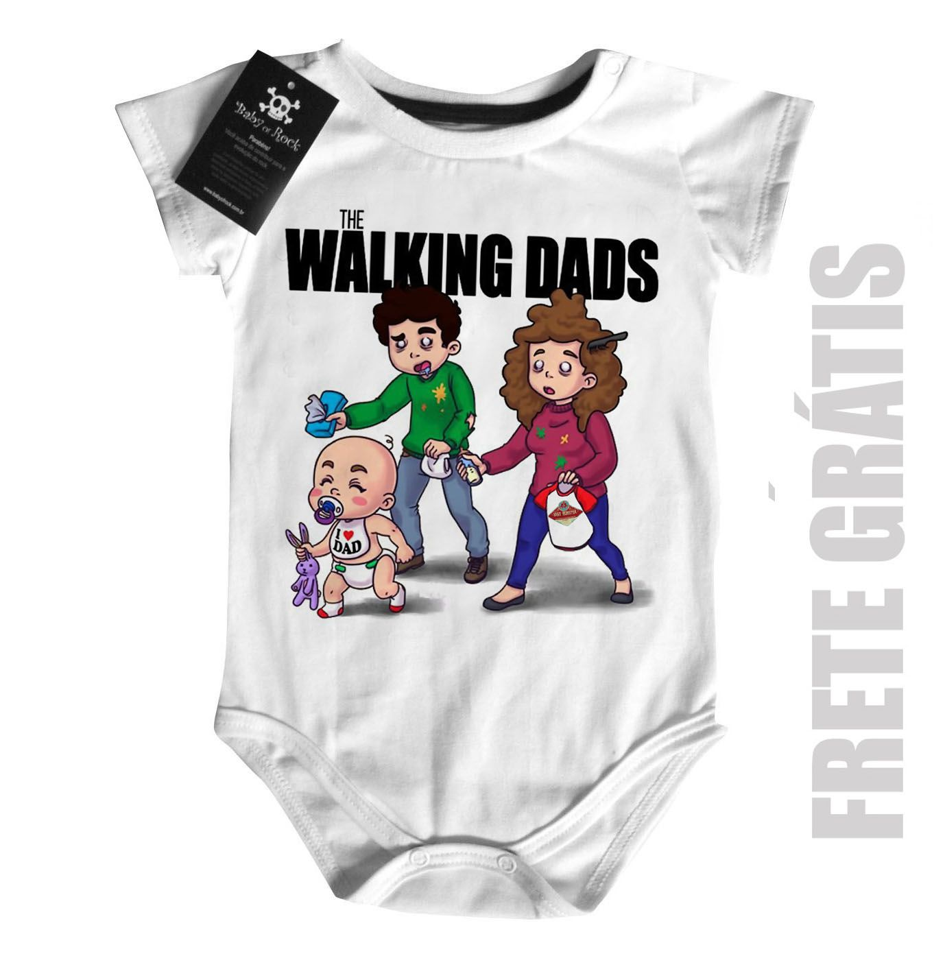 Body Bebê Seriados the walking deads - White  - Baby Monster S/A