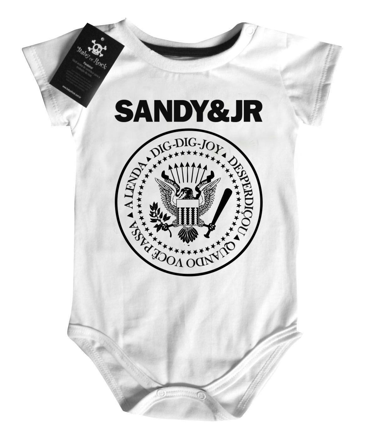 Body Bebe Sertanejo Sandy e Junior  - Baby Monster - Body Bebe