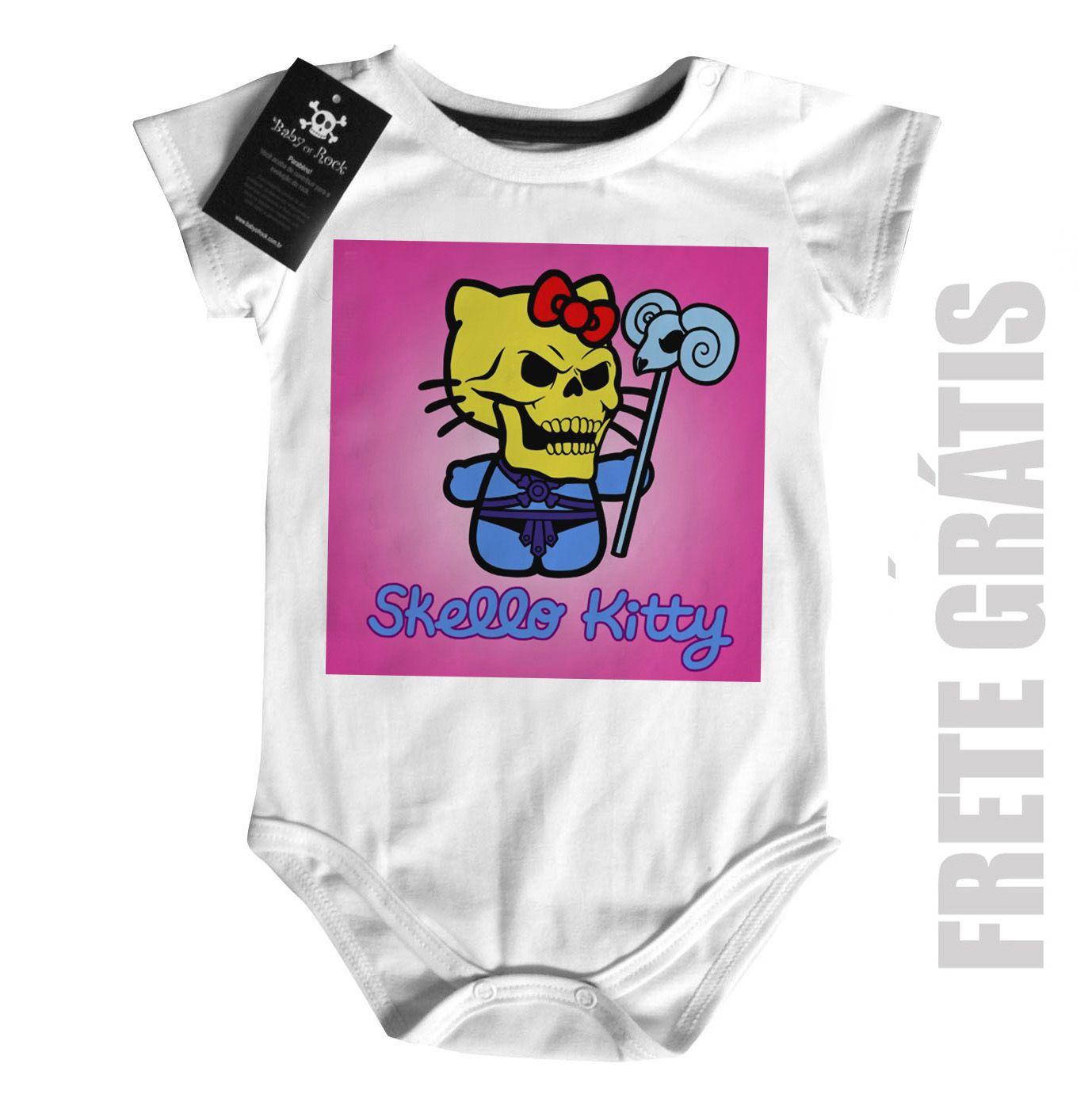 Body Bebê  Skello Kitty  -  White  - Baby Monster - Body Bebe
