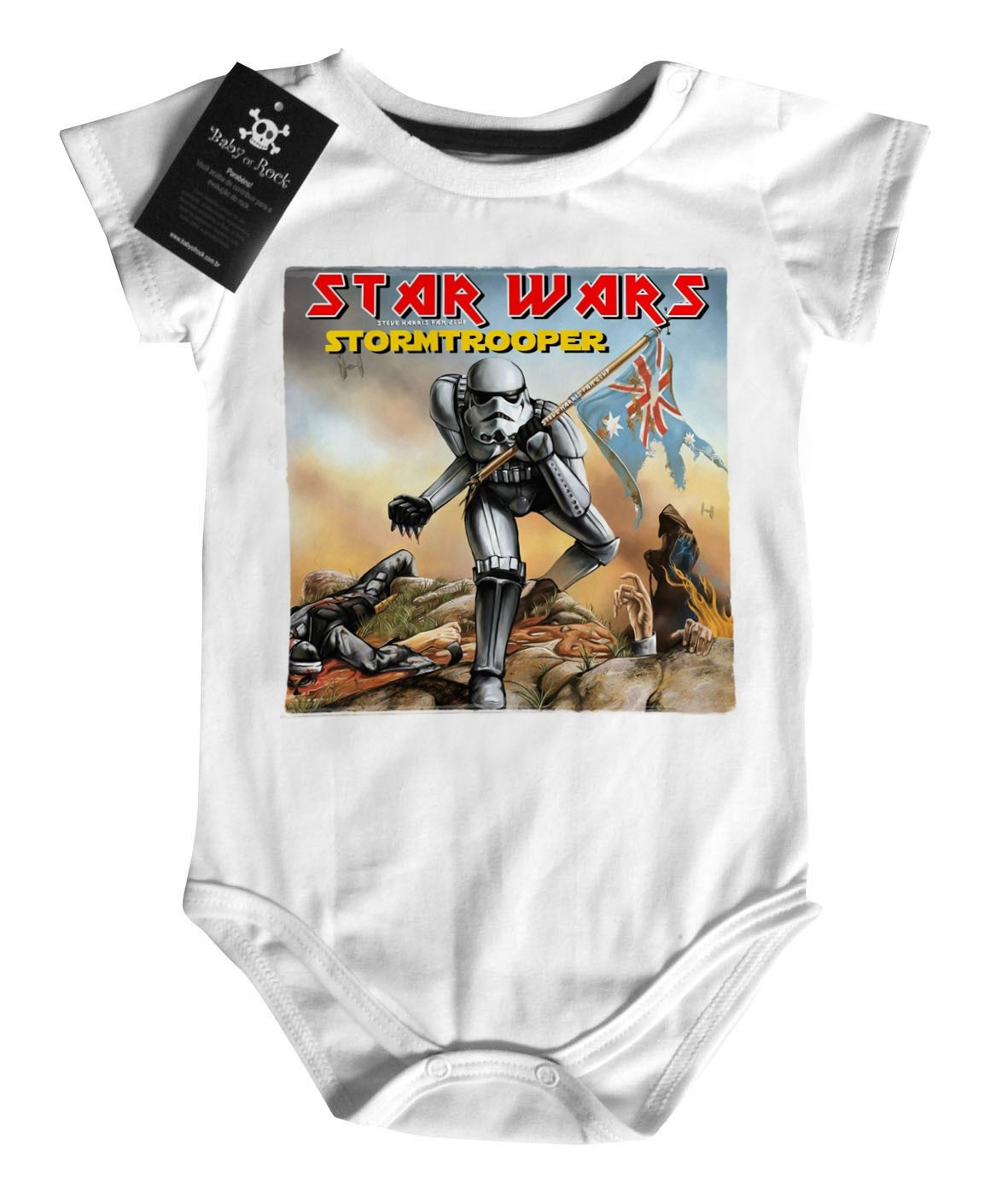 Body Bebê Star Wars / Iron Maiden - White  - Baby Monster S/A