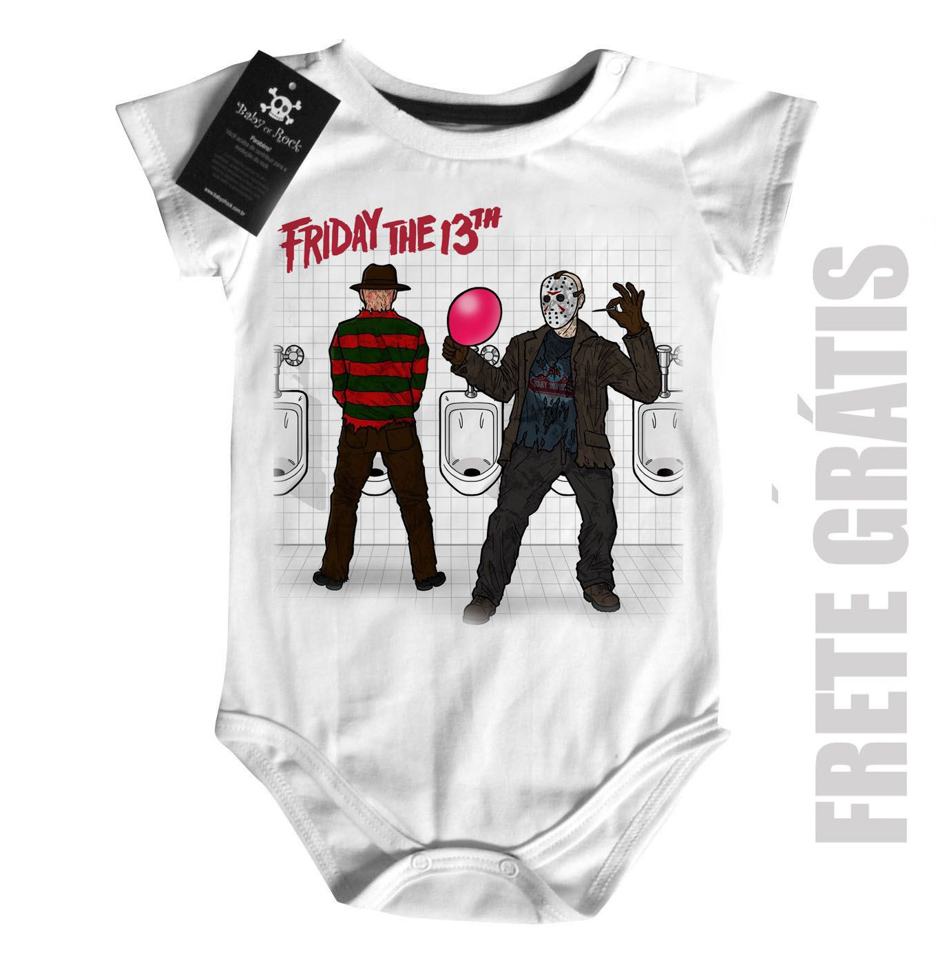 Body Bebê terror - Sexta Feira 13 - White  - Baby Monster S/A