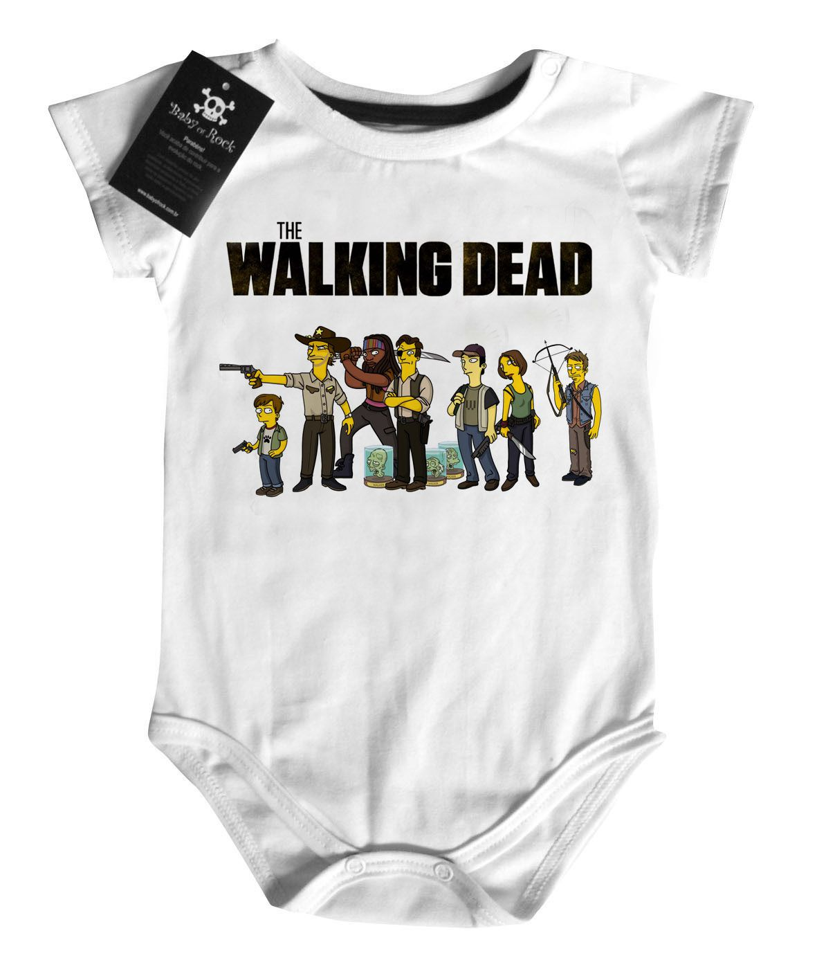 Body Bebê the walking dead SIMPSONS - White  - Baby Monster S/A