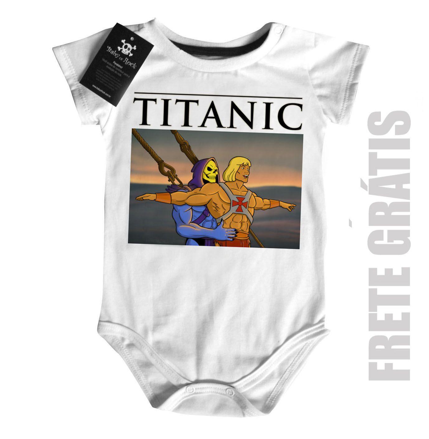 Body Bebê  Titanic He man -  White  - Baby Monster S/A