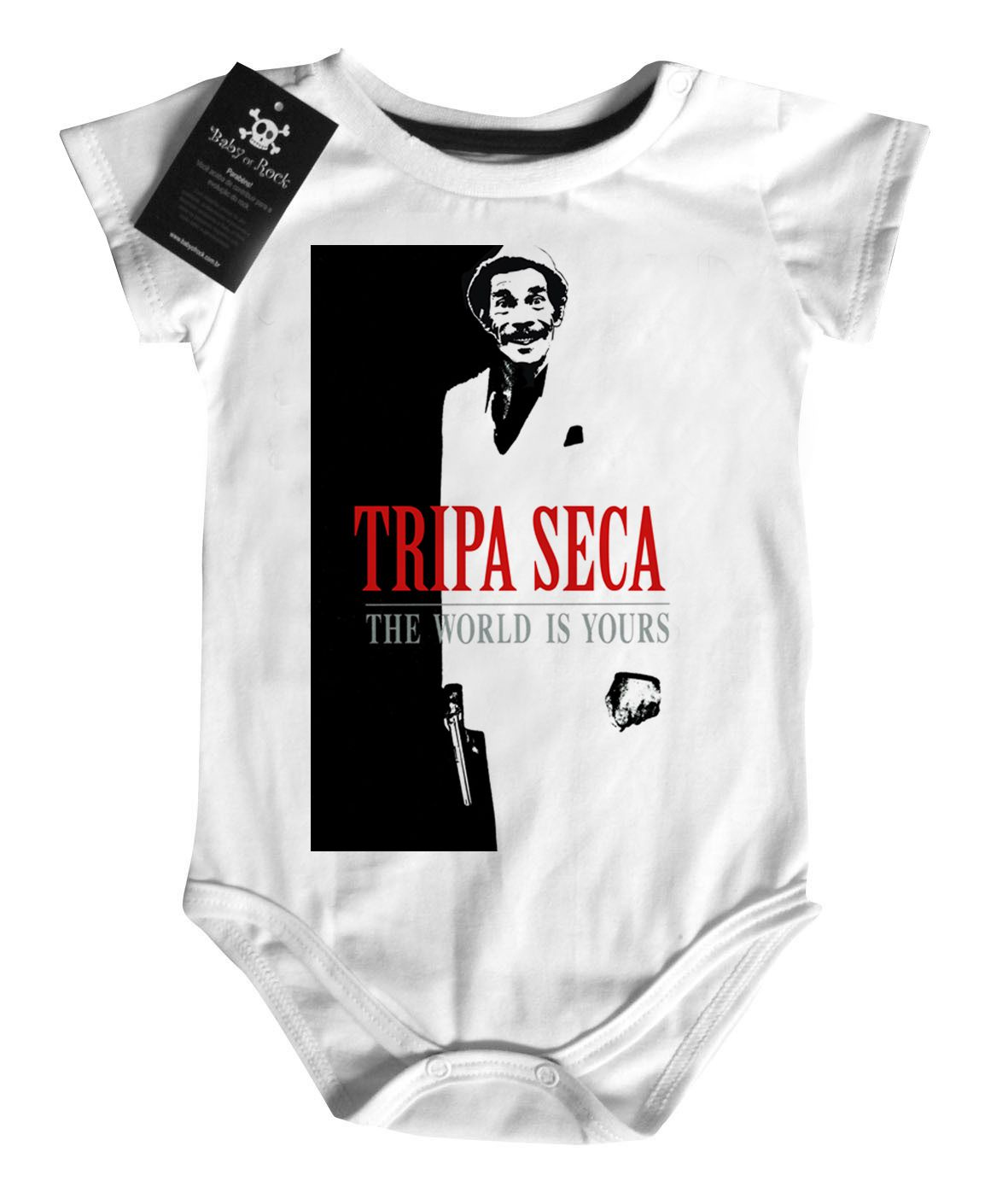 Body Bebê Tripa Seca - White - Seu Madruga  - Baby Monster S/A
