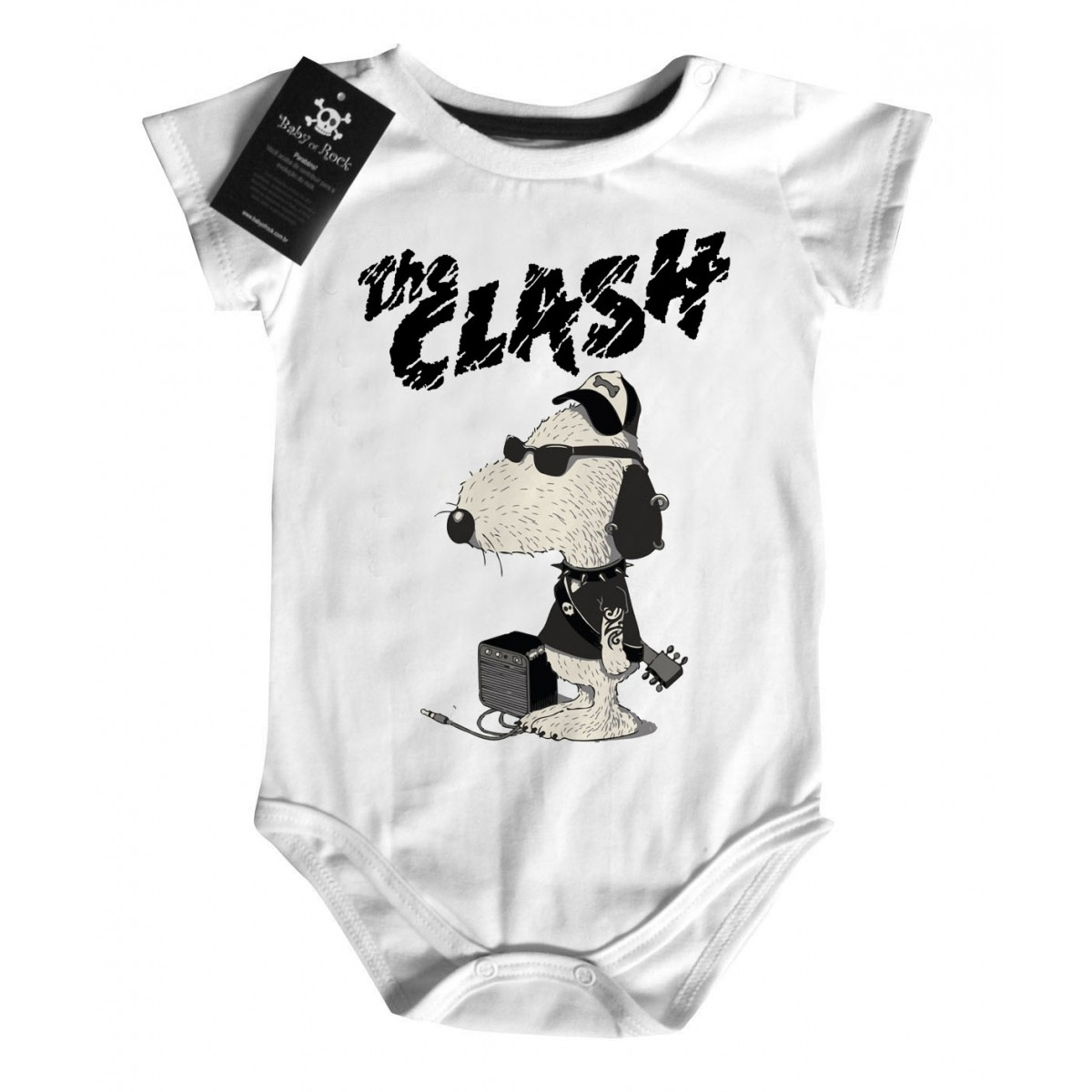 Body de Rock Baby - The Clash - White  - Baby Monster - Body Bebe