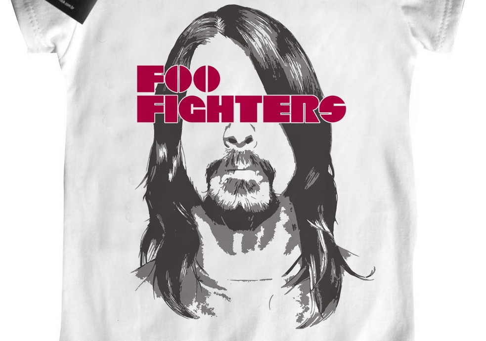 Body de Rock Bebê - Foo fighters - White  - Baby Monster - Body Bebe