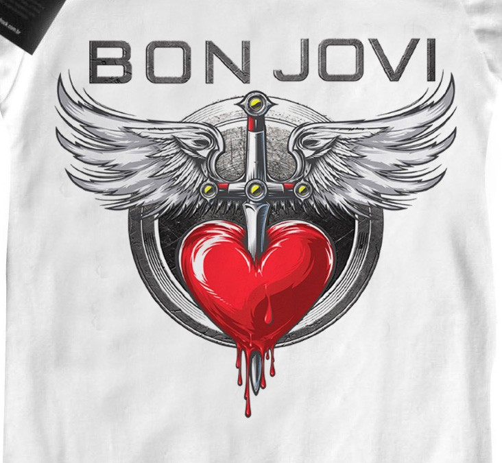 Body de Rock - Bon Jovi - White  - Baby Monster S/A