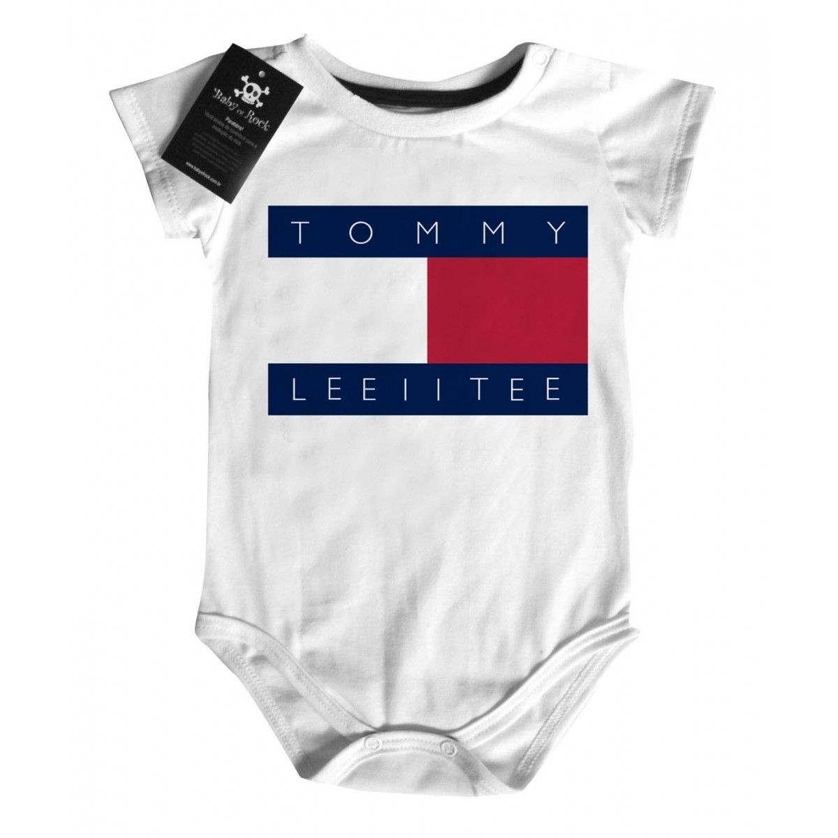 Body Divertido Criativo Baby - Tommy Leiite - White  - Baby Monster S/A