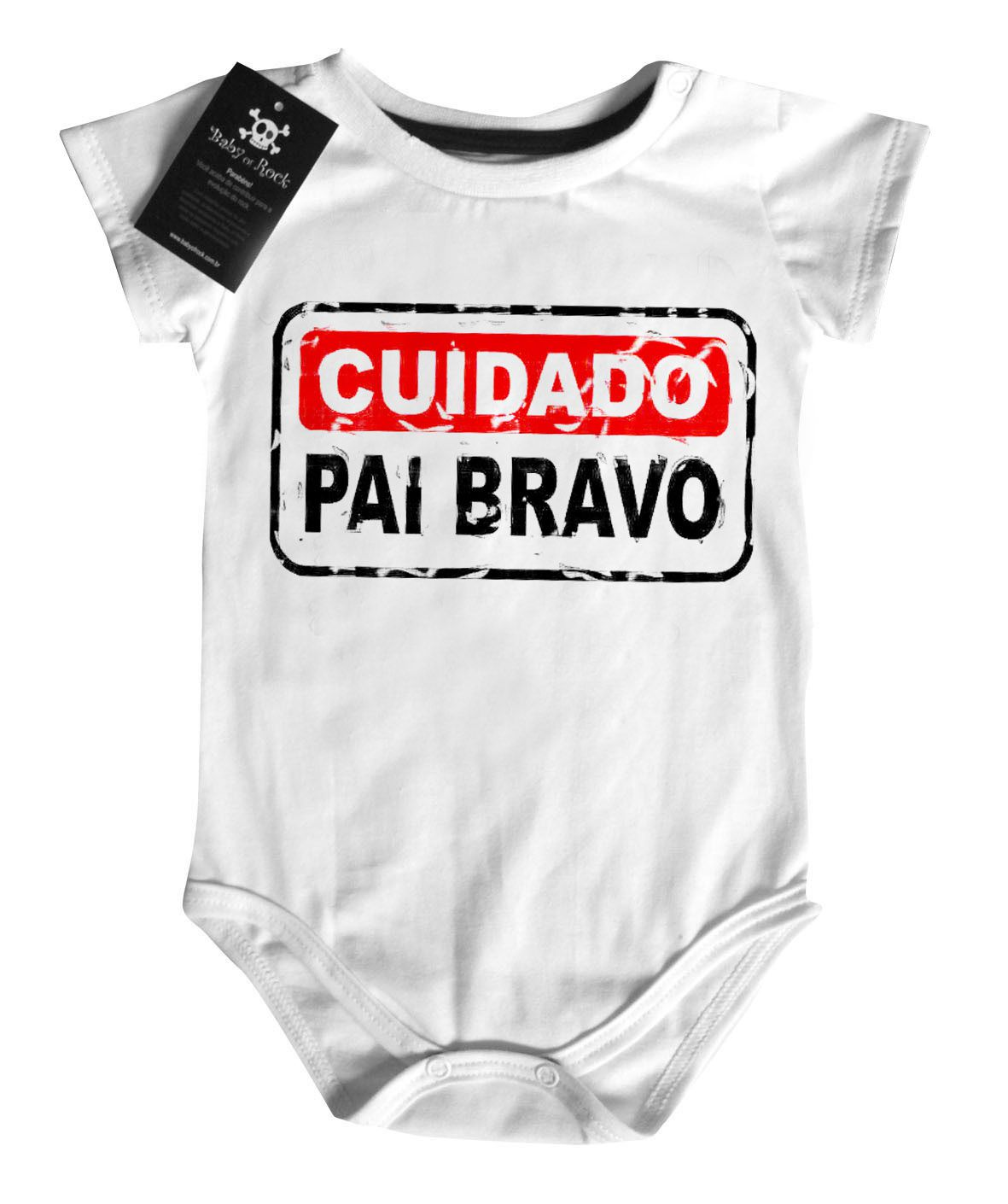 Body Divertido - Cuidado Pai Bravo- White  - Baby Monster S/A