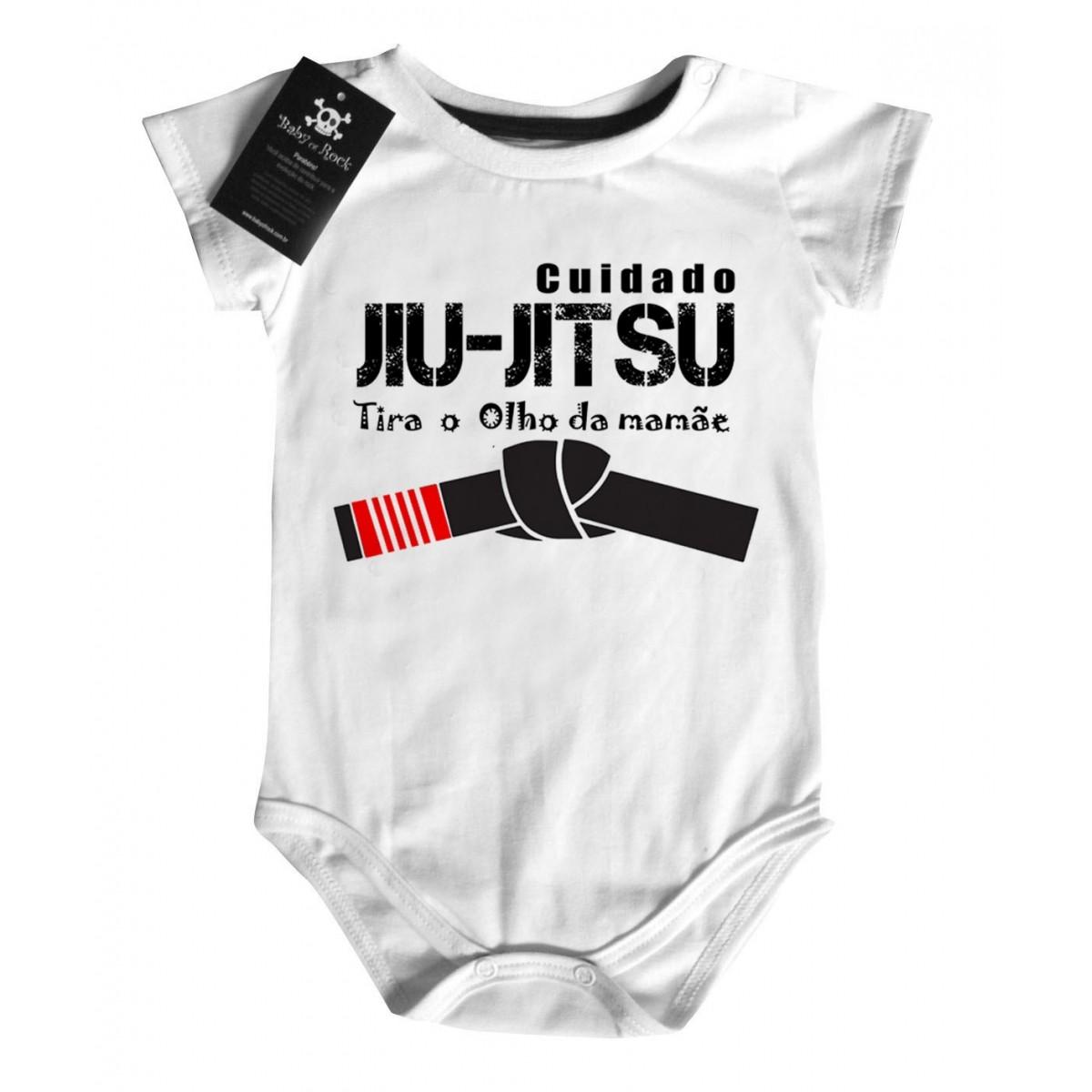 Body Divertido - Jiu Jitsu - White  - Baby Monster S/A
