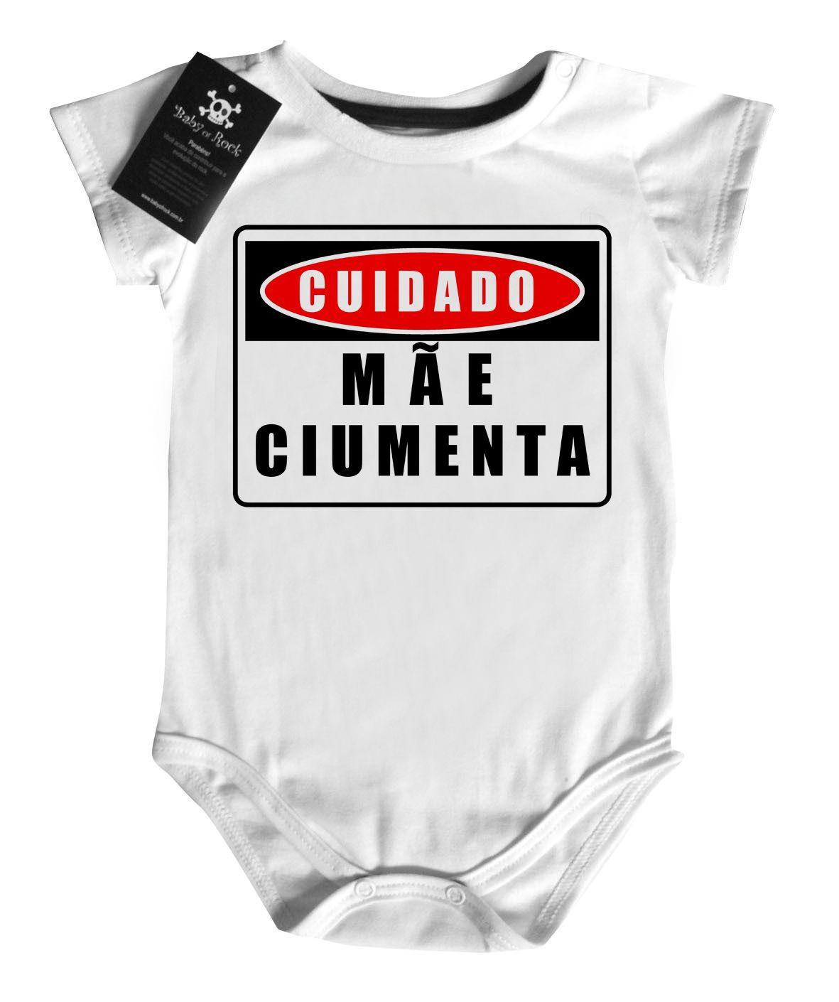 Body Divertido - Mãe Ciumenta- White  - Baby Monster S/A