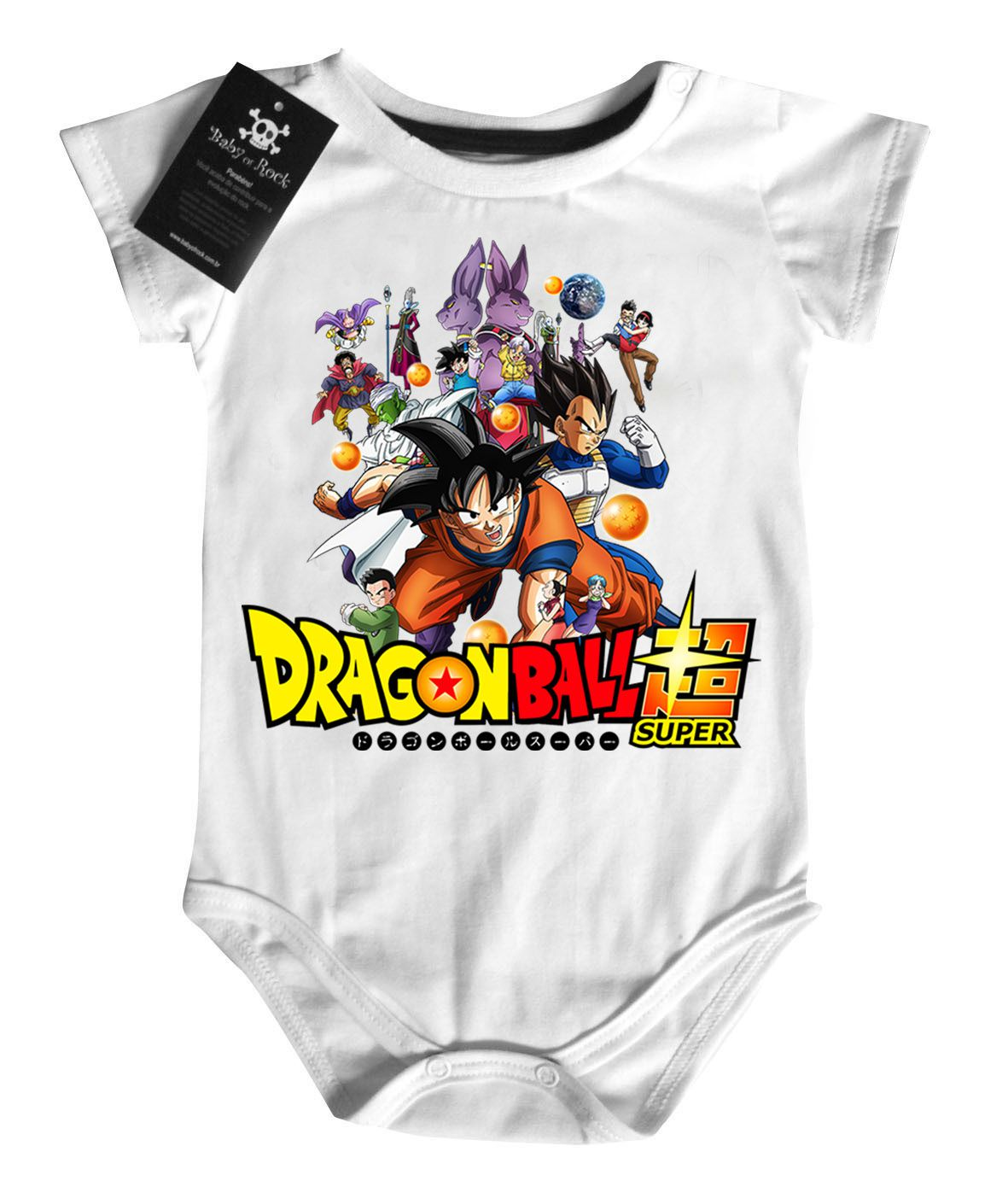 Body Dragon Ball - Dragon Ball Super - White  - Baby Monster S/A