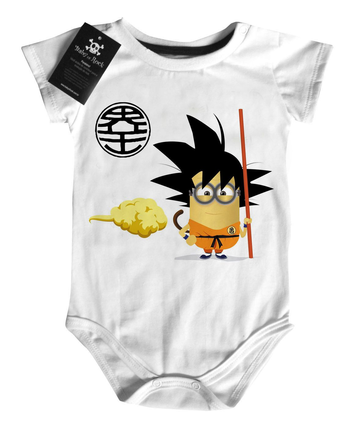 Body  Dragon Ball - Goku Minions - White  - Baby Monster S/A