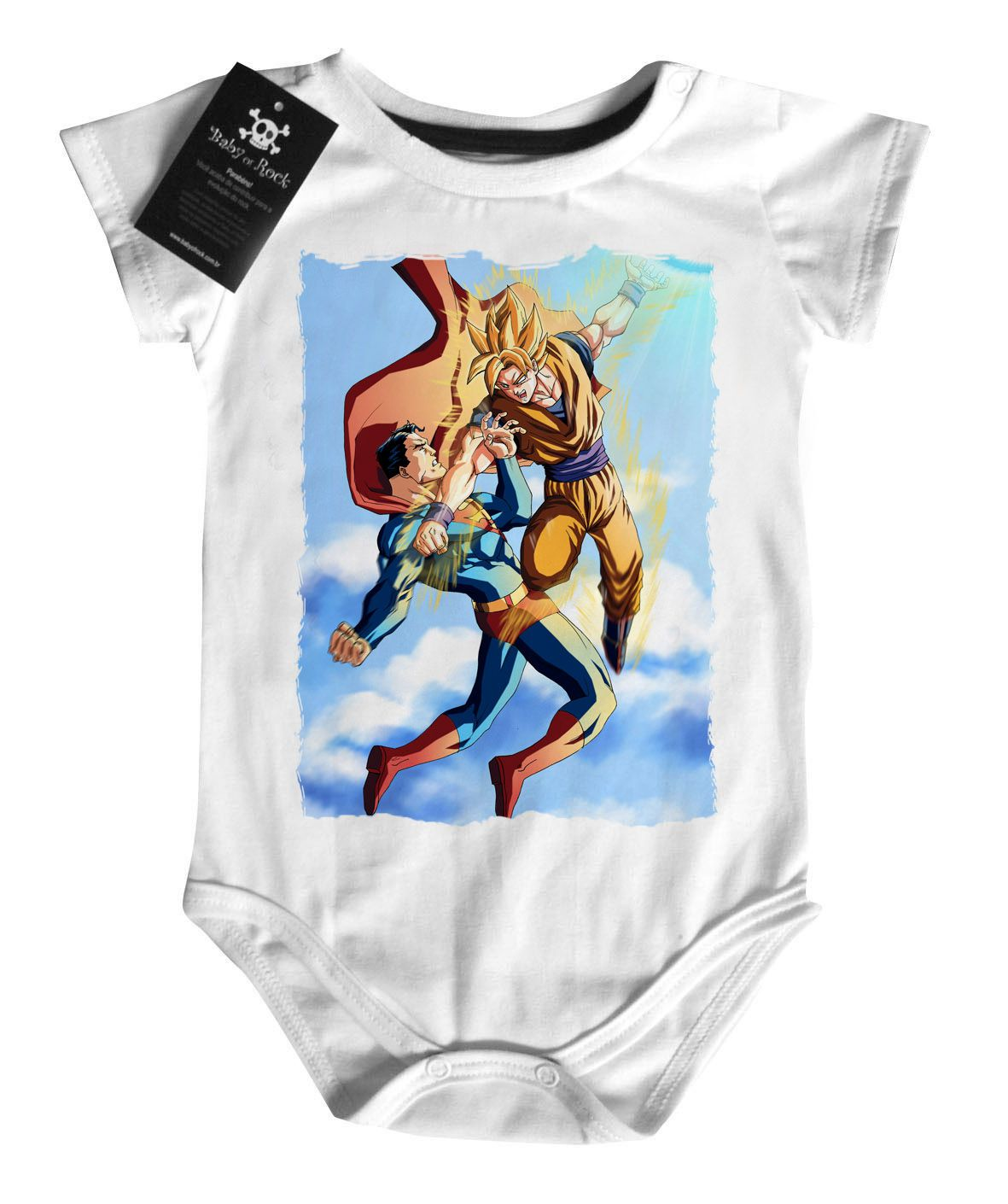 Body  Dragon Ball - Goku vs Super Man - White  - Baby Monster - Body Bebe