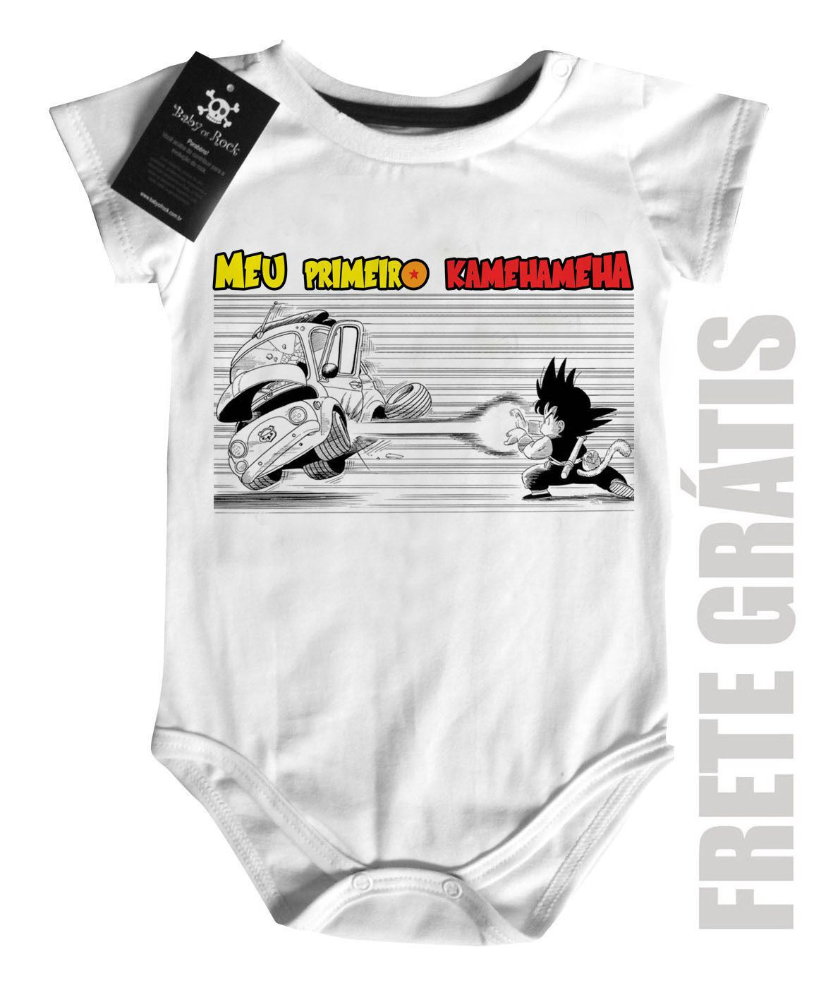 Body  Dragon Ball - Primeiro Kamehameha - White  - Baby Monster S/A