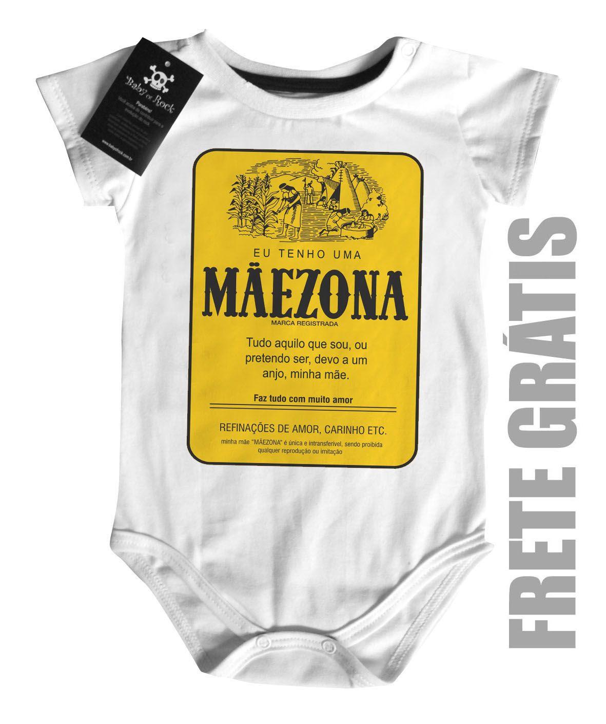 Body  Especial para Mãe Maezona - White  - Baby Monster S/A