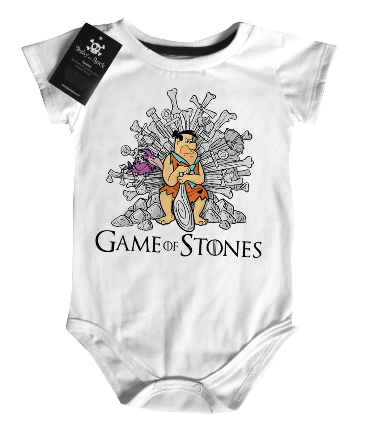 Body Filmes - Game of Thrones Flintstones   - White   - Baby Monster S/A