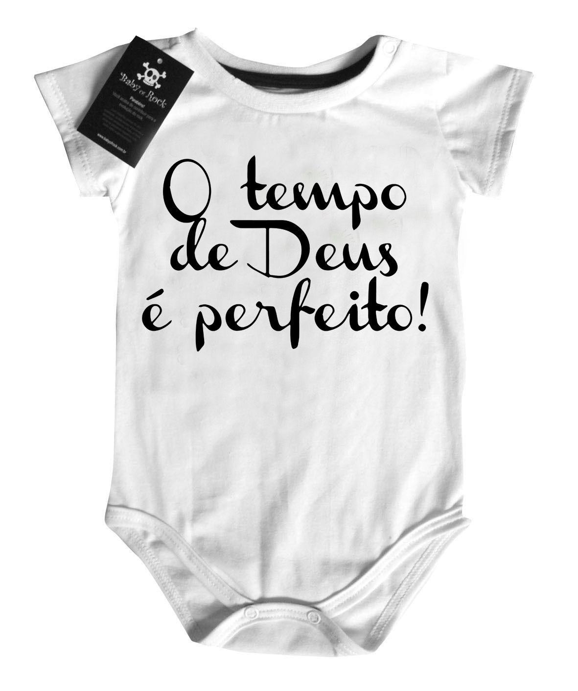 Body Gospel Tempo de Deus - White  - Baby Monster - Body Bebe