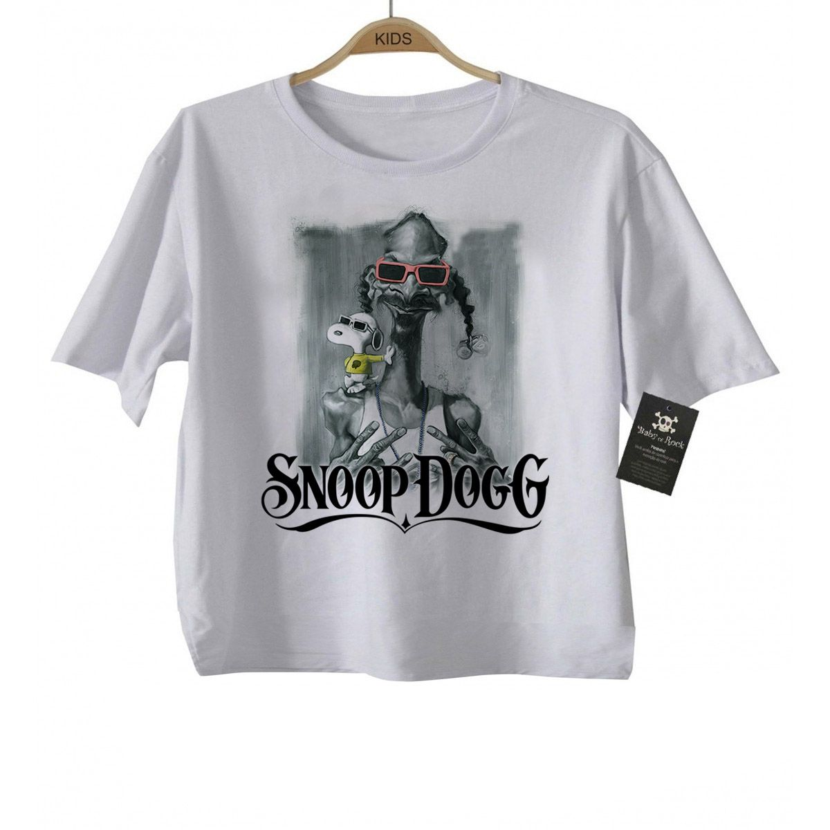 Camiseta  Hip hop  / Rap   Baby Snoop Dogg - White  - Baby Monster - Body Bebe