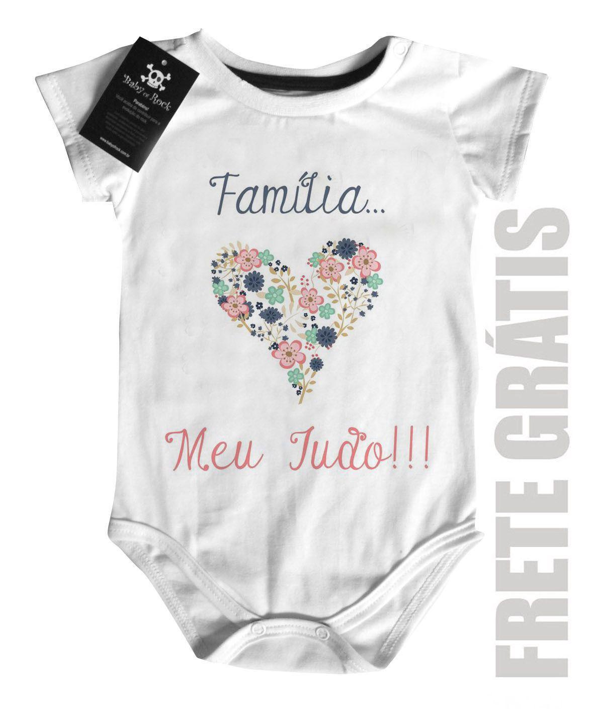 Body  Infantil - Família Meu Tudo  - White  - Baby Monster - Body Bebe