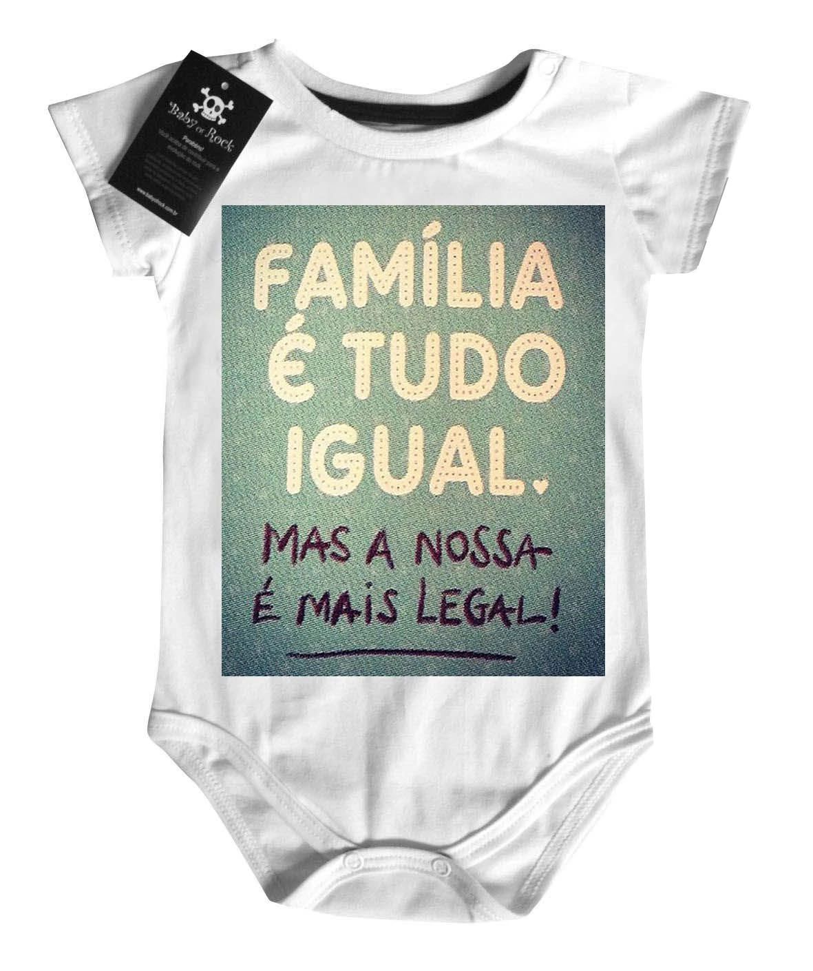 Body  Infantil - Família tudo igual   - White  - Baby Monster S/A