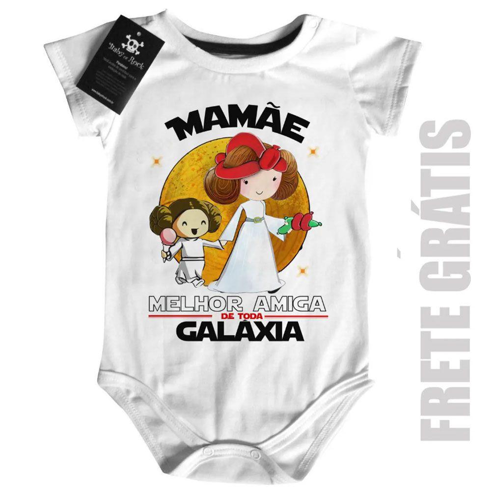 Body Nerd / Geek  Mamãe Melhor amiga da Galáxia (Menina)  - Baby Monster S/A