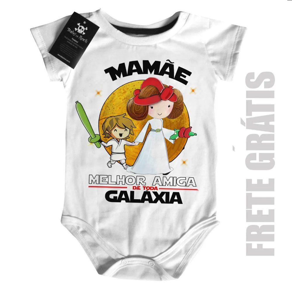 Body Nerd / Geek  Mamãe Melhor amiga da Galáxia (Menino)  - Baby Monster S/A