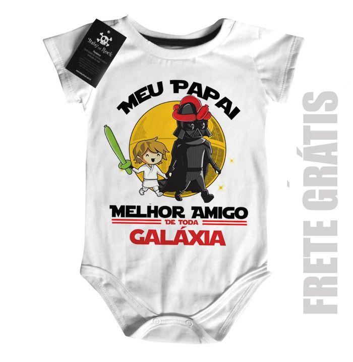Body Nerd / Geek  Papai Melhor amigo da Galáxia (Menino)  - Baby Monster S/A