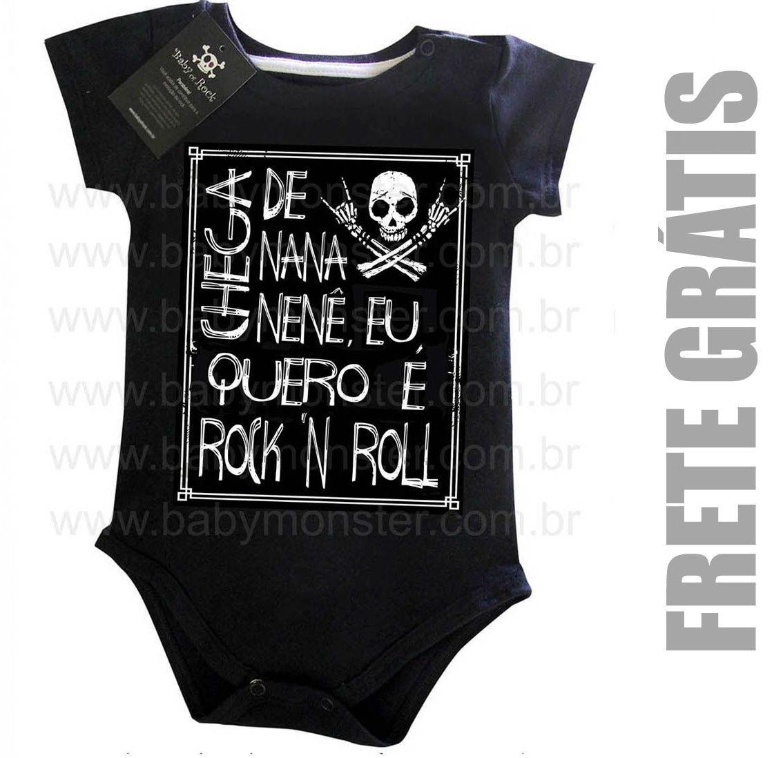 Body Rock Baby - Chega de Nana Neném Black  - Baby Monster S/A
