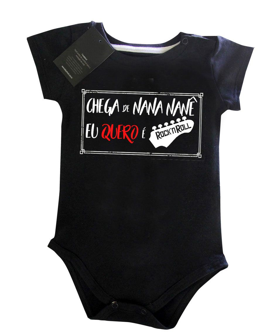 Body Rock Baby - Chega de Nana Neném Guitar - Black  - Baby Monster S/A