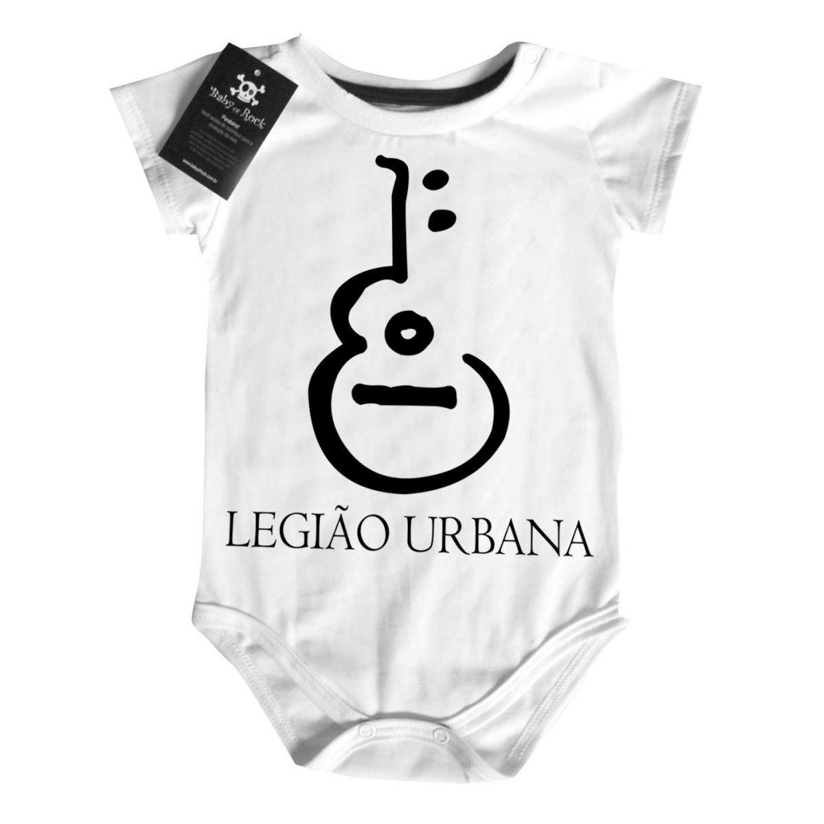 Body Rock Baby Nacional - Legião Urbana - White  - Baby Monster S/A